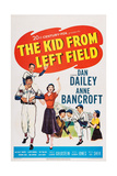 The Kid from Left Field, from Left: Billy Chapin, Dan Dailey, Anne Bancroft, 1953 Giclee Print