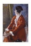 Model in Red (Fashionable Woman in Elegant Clothing) Print by Armando Spadini