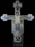 Painted Wooden Crucifix, School of Lucca, 12th C. National Museum of Villa Guinigi, Lucca, Italy Posters