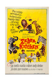 Zebra in the Kitchen, Bottom L-R: Karen Green, Jay North, Martin Milner, Andy Devine, 1965 Print