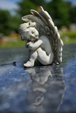 Sculpture of an Angel Photo af Frank May