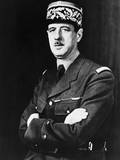 Charles De Gaulle in Exile in Britain During World War 2 Poster