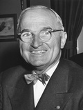 Harry Truman Starting His 6th Year as U.S. President with a Smile Photo