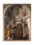 Saints Germiniano and Severo Plakater af Paolo Veronese