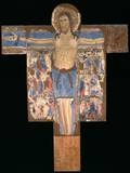 Crucifix, Tempera on Board 13th C. National Gallery, Siena, Italy Prints