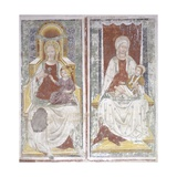 Frescoes with the Madonna and Child Sitting in Her Arms Print