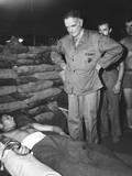 Admiral William Halsey Visiting a Sandbagged Hospital Dugout at Bougainville Prints