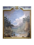 Rocky Landscape with Carriage and Wayfarer, 1773 Art by Andrea Urbani