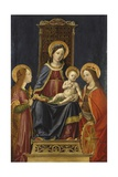 Enthroned Madonna with Child, Sts. Mary Magdalene and Catherine, 1490-99, Italy Posters by Bernardo Zenale