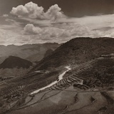 Terraced Fields and Roadway in a Mountainous Region of Yunnan Province in China Photo by Arthur Rothstein