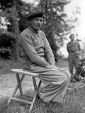 General Bernard Montgomery During a Press Conference in Normandy on June 11, 1944 Photo