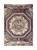 Ceiling: Trompe-L'Œil Architecture, Church of Saint Christopher, 18th C. Vercelli, Italy Prints by Pietro Fea