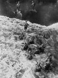 Overhead View of U.S. Marines Taking the Beach at Cape Gloucester, Papua New Guinea, Dec. 26, 1943 Photo