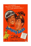 Jumping Jacks, Top from Left: Dean Martin, Jerry Lewis; Bottom Left: Mona Freeman, 1952 Print
