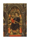 Madonna mit Kind und Heiligen Giclée-Premiumdruck von Lorenzo Veneziano