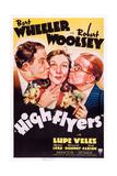 High Flyers, L-R: Robert Woolsey, Lupe Velez, Bert Wheeler, 1937 Poster