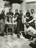 Chinese Men Prepare Noodles in Manchuria. Ca. 1930s Photo