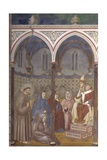 St. Francis Preaching in Front of Honorius Iii Prints by  Giotto