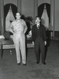Capt. Gaetano Faillace's Photo of a Dominatingly Tall Macarthur Next to Smaller Japanese Emperor Prints