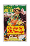 On Top of Old Smoky, Top: Gene Autry, Bottom Left: Gene Autry, Champion the Wonder Horse, 1953 Print