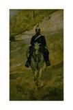 Soldado a caballo Láminas por Giovanni Fattori