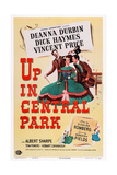 Up in Central Park, Top, from Left: Vincent Price, Deanna Durbin, Dick Haymes, 1948 Plakater