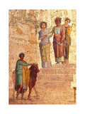 Jason and Pelias. Detail of Ancient Roman Fresco, C.20-25 Prints