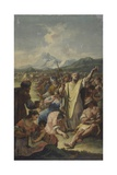 Moses Implores the Fall of Manna Giclee Print by Francesco Fontebasso