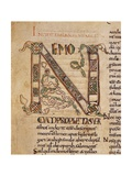 Illuminated Capital Letter N, Lectionary Bible 11th C Posters