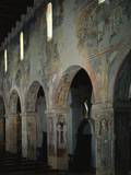 Frescoed Piers of the Aisle, Church of Saint Mary of Anglona, 11th C Poster