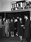 Teenagers Gathering at Teen Town Recreation Hall at Oak Ridge, Tennessee Photo