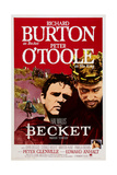 Becket, from Left, Richard Burton, Peter O'Toole, 1964 Posters