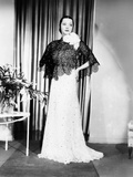 Sylvia Sidney in Gown and Cape Designed by Howard Greer, 1935 Photo