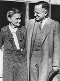 Senator Harry Truman with 92 Year Old Mother in July 1944 Photo