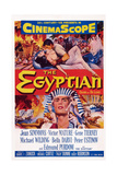 The Egyptian, Top L-R: Gene Tierney, Edmund Purdom, Bottom: Victor Mature, 1954 Plakater