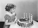 Shirley Temple, Celebrating Her Eighth Birthday, April 1936 Print