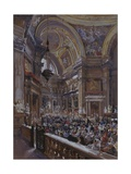 Interior of the Chapel of the Treasure of Saint Gennaro, 1863 Giclee Print by Giacinto Gigante