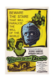 Village of the Damned, from Left: George Sanders, Barbara Shelley, 1960 Giclée-tryk