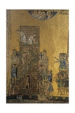 Building of the Tower of Babel. Mosaic, 1215-40. Saint Mark's Basilica, Venice, Italy Prints
