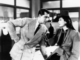 His Girl Friday, from Left: Cary Grant, Rosalind Russell, 1940 Photographie
