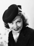 Beauty for the Asking, Lucille Ball, Modeling a Black Felt Pillbox Hat by Edward Stevenson, 1939 Photo