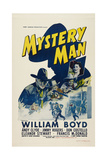 Mystery Man, Left: William Boyd; Right Inset: Eleanor Stewart, 1944 Posters