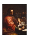 St. Augustine Writes in Room with His Students Arte por Giuseppe Vermiglio