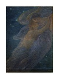 Triptych of the Day: the Night (Detail) Giclee Print by Gaetano Previati