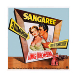 Sangaree Art, from Left: Arlene Dahl, Fernando Lamas, 1953 Prints