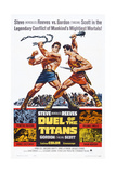 Duel of the Titans, (Aka Romolo E Remo), from Left: Steve Reeves, Gordon Scott, 1961 Poster