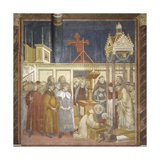 Nativity Scene with St. Francis Holding Baby Jesus Prints by  Giotto
