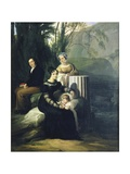 Portrait of the Borri Stampa Family Art by Francesco Hayez