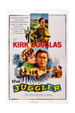 The Juggler, Top: Kirk Douglas; Center: Milly Vitale, Kirk Douglas, 1953 Prints