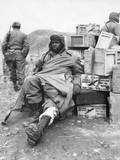 U.S. Soldier of the 24th Infantry Regiment Wounded in the Leg on Feb. 16, 1951 Prints